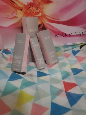Mary kay: I have on hand satin lips shea sugar scrub,lipstick,makeup brushes,traveling bag and more for Sale in Seattle, WA