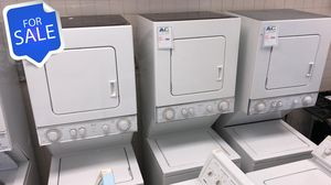 NO CREDIT!! Whirlpool Stackable Washer Electric Dryer Set 220v #1535 for Sale in Pasadena, MD
