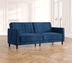 Mid century modern Tufted royal blue sleeper retail $460 for Sale in San Diego, CA