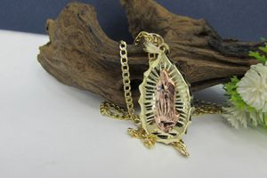 2 Tone Diamond Cut 14k Gold Virgin Mary Pendant & chain for Sale in Los Angeles, CA