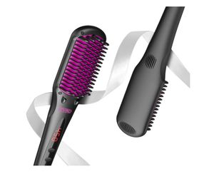 Hair Straightening Brush - 2-in-1 Ionic Straightener Brush with Anti-Scald, 16 Heat Levels, Auto Temperature, 30 mins Auto-Off, Portable Straightenin for Sale in Rancho Cucamonga, CA