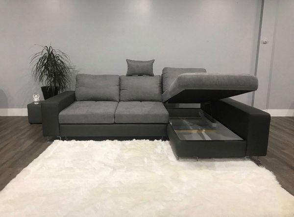 Brilliant European Sofa Sectional L Shaped Couch With Sleeper Adele Ncnpc Chair Design For Home Ncnpcorg