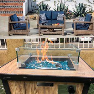 Patio Furniture Set Sunbrella Fabric With Fire Pit for Sale in Riverside, CA