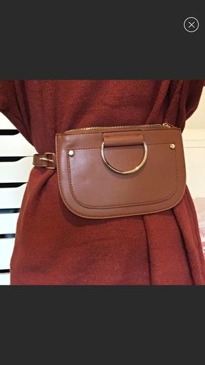 New Cognac brown faux leather belt bag size S/M for Sale in Santa Clara, CA