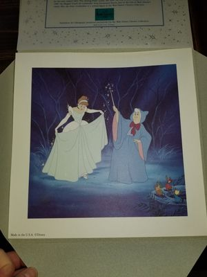 Disney Princess Cinderella Art Cell Lithograph for Sale in Glendale Heights, IL