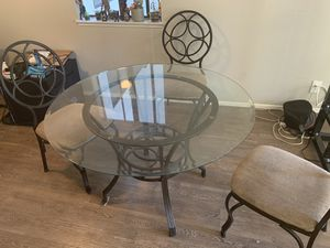 Glass kitchen table. 3 FREE chairs included for Sale in Hayward, CA