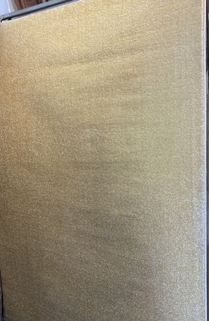 5x8 solid low pile rug plain light beige color. for Sale in Los Angeles, CA