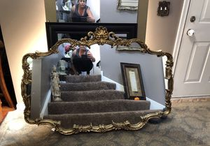 HUGE Vintage French Provincial Gold Gilded Wall Hanging Mirror EXCELLENT CONDITION! for Sale in Plainfield, IL