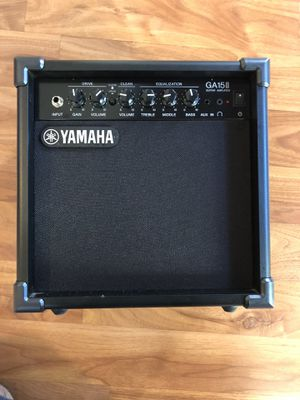 Yamaha GA15ll Guitar Amplifier Open box never Used Guitar Cable Cord included for Sale in Fremont, CA