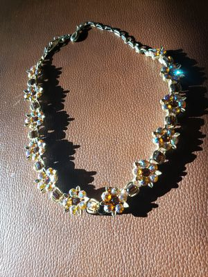 Vintage Amber color rhinestone necklace for Sale in Severna Park, MD