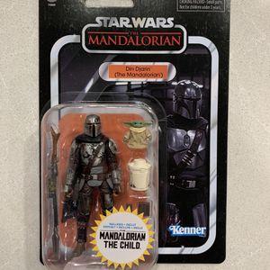 "Din Djarin & The Mandalorian Vintage Black Series *MINT* 4"" 3.75"" Walmart Star Wars Kenner VC177 F0880 Action Figure Hasbro retro Disney for Sale in Lewisville, TX"