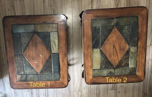 Two End Tables Wood & Metal - Pick up only for Sale in Fair Oaks, CA
