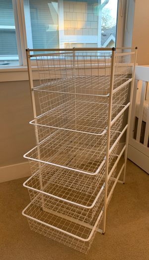 White Wire Shelves storage system for Sale in Seattle, WA