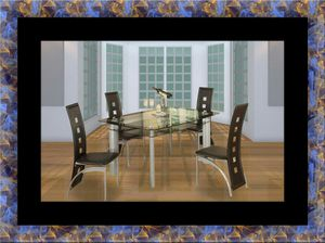 Glass dining a table with 4 chairs for Sale in Gambrills, MD