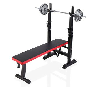 ADJUSTABLE WEIGHT BENCH Press Barbell Rack Exercise Strength Training Workout Red&Black without barbell for Sale in Los Angeles, CA