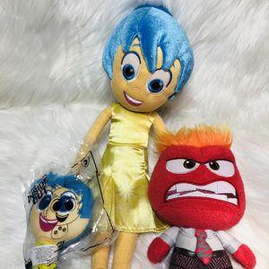Disney Pixar Inside Out Plush Toys Joy Anger for Sale in Largo, FL