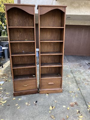 Two all wooden shelving units 24x12x84 for Sale in Huntington Beach, CA