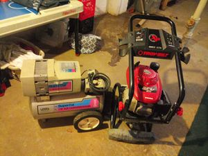 Troy-Bilt 3000 max PSI power washer and air compressor for Sale in Columbus, OH