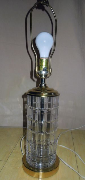 Beautiful Lead Crystal Lamp for Sale in Chelmsford, MA