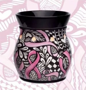 SCENTSY (NIB) Ribbons Of Hope Warmer. Breast Cancer Awareness. Black, Pink & White for Sale in Denver, CO