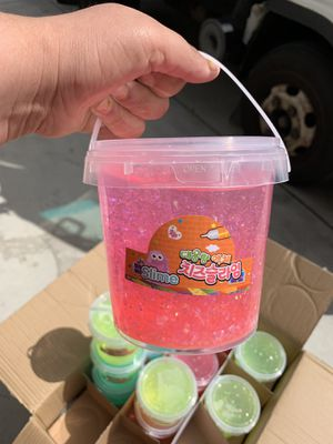 Bucket slimes $5 each kids toy for Sale in San Bernardino, CA