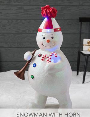 Snowman Christmas outdoor/indoor decor with lights and music for Sale in Bell, CA