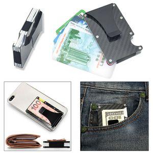 Slim Carbon Fiber Credit Card Holder RFID Non-scan Metal Wallet Money Clip Purse (fibermoneyholder-USA) for Sale in Riverside, CA