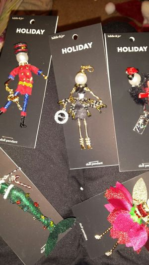 Hildie & Jo holiday doll pendant lot for Sale in Tacoma, WA