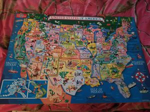 Large magnetic map for Sale in Brooks, OR
