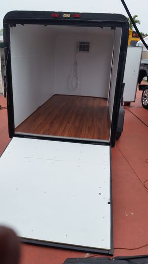 12x 8 Utility trailer remodel with ac good fore the keys for Sale in Hialeah, FL