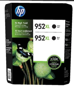 HP 952XL High Yield Ink Cartridge, Black, 2-count for Sale in Pompano Beach, FL