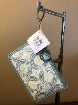 Authentic Coach mini skinny coin wallet keychain for Sale in City of Industry, CA
