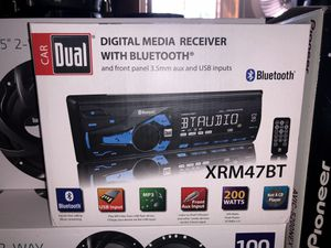 New Dual audio Bluetooth car radio with speakers for Sale in Washington, DC