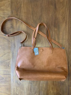 Reversible Tote with Wristlet and Crossbody Strap - Brown for Sale in Los Angeles, CA