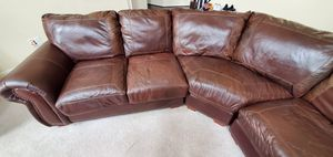 V shaped leather sectional for Sale in Triangle, VA