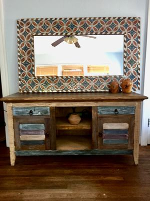 SOLID wood Rustic Media Cabinet or Dresser for Sale in Austin, TX
