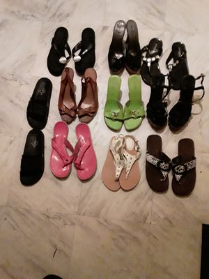 8 pair of women's summer/spring shoes for Sale in Chicago, IL