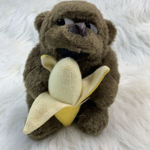 "Vintage Plush Monkey Gorilla Eating Stuffed Banana 1989 Embrace Toy 6"" for Sale in Centerton, AR"