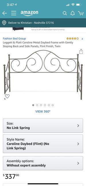 Caroline Metal twin day bed Flint color for Sale in Murfreesboro, TN