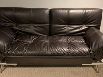 Matrix Pillowtop Bonded Leather Sofa Bed Black for Sale in Seattle,  WA