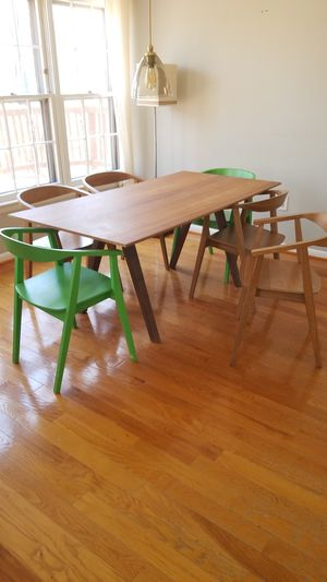 IKEA Stockholm dining table + 6 chairs for Sale in Woodbridge, VA