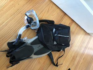 Mask and fins (size 10) for Sale in San Francisco, CA
