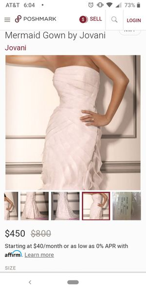 JOVANI White Gown for Sale in Goodyear, AZ