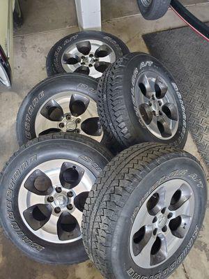Jeep Wrangler Sahara Wheels Tires JK for Sale in Mars, PA