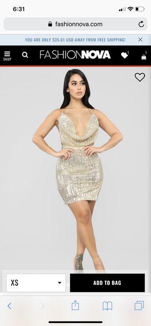 Brand New Fashion Nova Gold Dress for Sale in San Leandro, CA