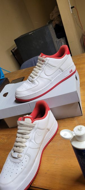 Nike,size 9.5, Air force 1's white and red for Sale in Chandler, AZ