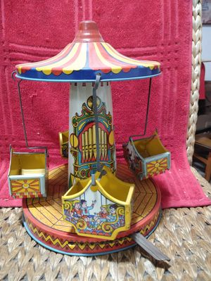 1950's J.Chein&Co. Musical Mechanical Aero Swing Collectable Tin-Toy for Sale in Santa Maria, CA