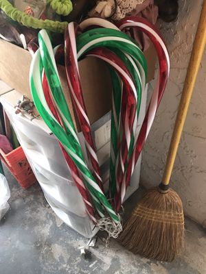 Christmas light up candy canes for Sale in Port St. Lucie, FL