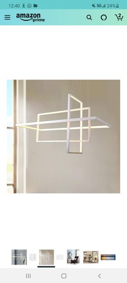 Modern chandelier new open box for Sale in Snohomish,  WA