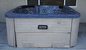Dynasty Spas 6 Person Outdoor Whirlpool Lounger Spa Hot Tub with 48 Jets, List Retail 10k Plus for Sale in Maricopa, AZ